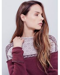 Free People | Purple Snow Bunny Pullover | Lyst