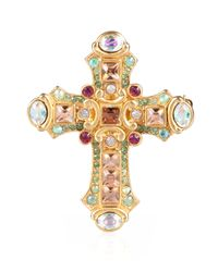 Jay Strongwater | Multicolor Christian Cross Pin | Lyst