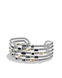 David Yurman - Metallic Confetti Wide Cuff Bracelet With Diamonds And Gold - Lyst