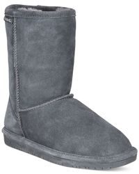 BEARPAW | Gray Emma Short Cold Weather Boots | Lyst