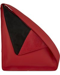 J.W.Anderson | Red Triangle Leather Shoulder Bag | Lyst