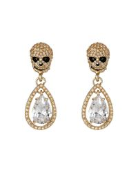 Betsey Johnson | Metallic All That Glitters Cubic Zirconia Gold Earrings | Lyst
