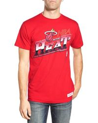 Mitchell & Ness - Red 'miami Heat - Last Second Shot' Graphic T-shirt for Men - Lyst