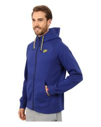 Nike | Blue Aw77 Fleece Fz Hoodie for Men | Lyst