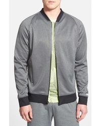 BPM Fueled by Zella | Gray 'pyrite' Bomber Jacket for Men | Lyst