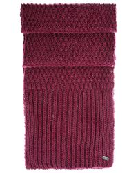 BOSS Orange | Pink Knitted Scarf In Fabric Blend: 'naresi' | Lyst
