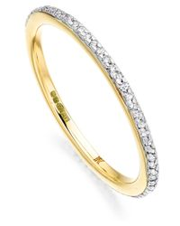 Monica Vinader - Metallic Gold Vermeil Diamond Skinny Eternity Ring - Lyst