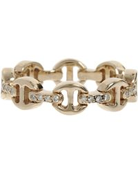 Hoorsenbuhs - Metallic Dame Tri-link Ring - Lyst