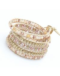 Nakamol | Metallic Crucible Wrap Bracelet-beige | Lyst