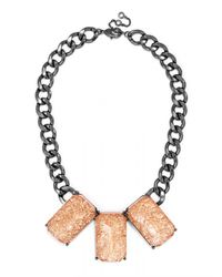 BaubleBar - Metallic Triple Bling Collar - Lyst