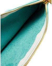 American Apparel - Blue Leather Clutch in Cool Aqua - Lyst