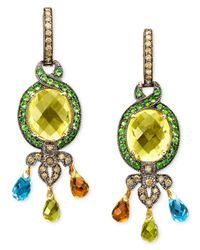 Le Vian - Metallic Multistone Earrings In 14K Gold - Lyst
