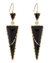 Lana Jewelry | Frosted 14k Black Onyx Drop Earrings | Lyst