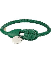 Bottega Veneta | Green Intrecciato Nappa Bracelet for Men | Lyst
