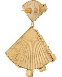 Elizabeth Cole - Metallic Dancing Triangle Gold-plated Swarovski Crystal Earrings - Lyst