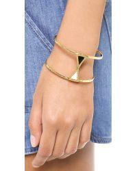Gorjana - Metallic Salida Double Cuff Bracelet Gold - Lyst