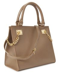 Sophie Hulme - Brown Taupe Chain Embellished Leather Tote - Lyst