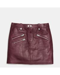 COACH   Purple Multi Zip Skirt   Lyst