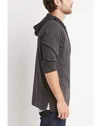 Forever 21 | Gray Hooded Pullover Tee for Men | Lyst