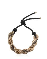 Lanvin - Metallic Antique Brass Necklace - Lyst