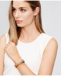 Ann Taylor | Brown Colorblock Resin Bangle | Lyst