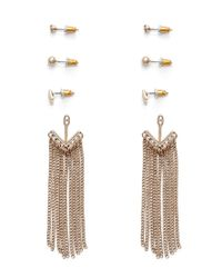 Forever 21 - Metallic Fringed Ear Jacket Set - Lyst