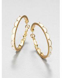 kate spade new york - Metallic Enamel Scallop Hoop Earrings - Lyst