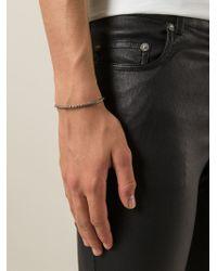 Saint Laurent | Metallic Scaled Bracelet for Men | Lyst