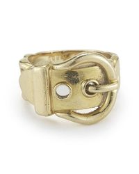 Hermès - Metallic Pre-owned: 18ky Gold Buckle Ring - Lyst