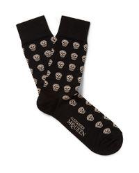 Alexander McQueen | Natural Socks Short Skull for Men | Lyst