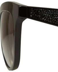 Miu Miu - Black Diamante Detail Butterfly Sunglasses - Lyst