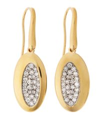 Roberto Coin | Metallic 18 Karat Gold Capri Diamond Earrings | Lyst