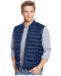 Tommy Hilfiger | Blue Castelli Quilted Zipper Vest for Men | Lyst
