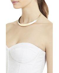 BCBGMAXAZRIA - Black Enamel Collar Necklace - Lyst