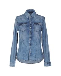 Pepe Jeans - Blue Denim Shirt - Lyst