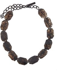 Oscar de la Renta | Brown Black Glass Crystal Necklace - For Women | Lyst