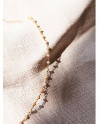 Free People | Metallic Diamond Drop Choker | Lyst