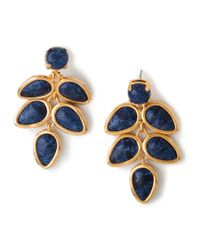 Lele Sadoughi | Palm Leaf Earrings, Atlantic Blue | Lyst