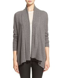 Soft Joie | Gray 'wren' Shawl Collar Cardigan | Lyst
