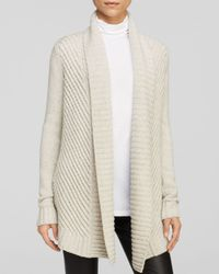 Vince - Gray Cardigan Chevron Shawl - Lyst
