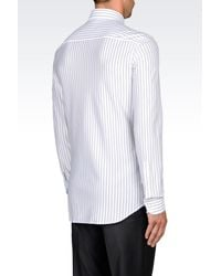 Emporio Armani | White Long Sleeve Shirt for Men | Lyst
