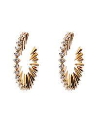 Noir Jewelry - Metallic Mini Punk Hoop Earrings - Lyst