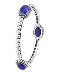 Lagos - Purple Maya Lapis Station Bangle Bracelet - Lyst