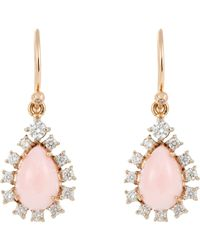 Irene Neuwirth | Pink Diamond & Opal Drop Earrings | Lyst