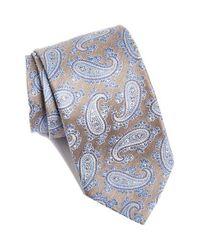 David Donahue - Brown Paisley Silk Tie for Men - Lyst