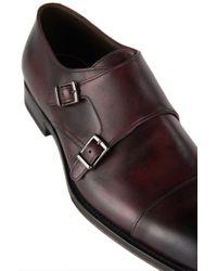 BOSS - Red 't-legom'   Italian Leather Double Monk Strap Dress Shoes for Men - Lyst