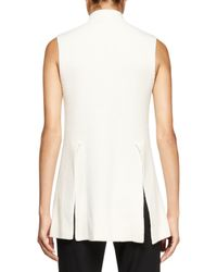 Proenza Schouler - White Sleeveless Mock-neck Tunic Sweater - Lyst