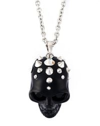 Alexander McQueen - Black Skull Pendant Necklace for Men - Lyst