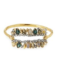 Alexis Bittar - Metallic Elements Fancy I.D. Hinge Bangle Bracelet - Lyst