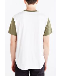 Obey - Green Cast Henley Tee for Men - Lyst